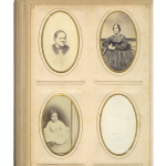 unidentified man, woman and child