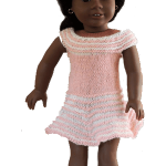 American Girl doll dress and hat